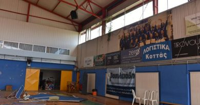 Χαλκιδική: Αποκατάσταση των ζημιών στο Κλειστό Γυμναστήριο Ν. Μουδανιών