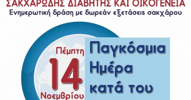 Ενημερωτική εκδήλωση για τον Σακχαρώδη διαβήτη και δωρεάν μετρήσεις σακχάρου