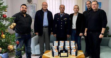 Δωρεά τριάντα έξι (36) σετ πρώτων βοηθειών DermaPlast στη Διεύθυνση Αστυνομίας Χαλκιδικής