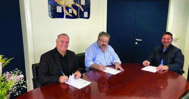 Υπογραφή σύμβασης «Αποκατάσταση καταστραμμένων τμημάτων οδοστρώματος του Οδικού δικτύου Δήμου Σιθωνίας»  προϋπολογισμού 1.700.000,00 €